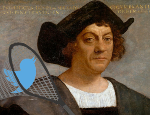 Columbus discovers social media, says Twitter tastes like chicken!